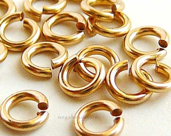4mm GOLD FILLED Jump Rings 19 Gauge Open F29GF