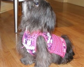CUDDLES and KISSES- dog sweater - 2 to 20 lbs - made to order