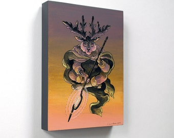 SALE! The Druid - Original Painting by Nicole Gustafsson