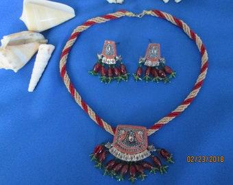 Vintage Estate Bollywood Indian Style Necklace Set