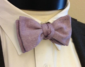 The Carter- Our chambray bowtie in purple