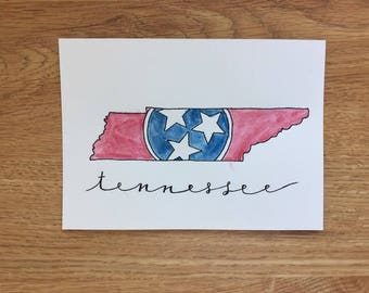 Tennesse Postcard Art (Watercolor)
