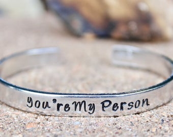 You're My Person Bracelet, Best Friends Bracelet, BFF Bracelet, Best Friends Bangle, You're my Person, Infinity Best Friend, Best Friends