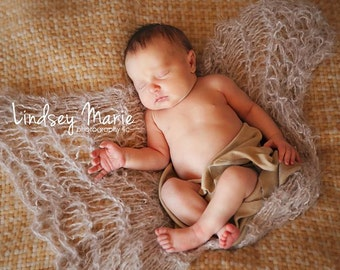 Baby Photo Prop Boy Blanket Infant Photo Prop Boy (TAUPE / Beige / Tan / Light Brown)