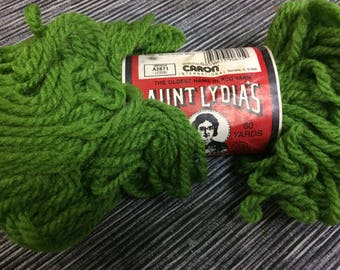 Aunt Lydia's Rug Yarn Grass Green Or Harvest Gold