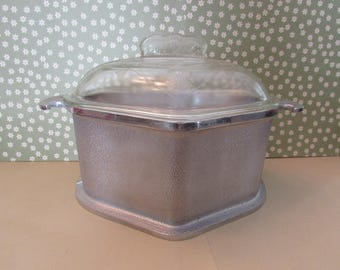 Vintage Guardian Service Trio Dutch Oven or Casserole Dish with Glass Lid