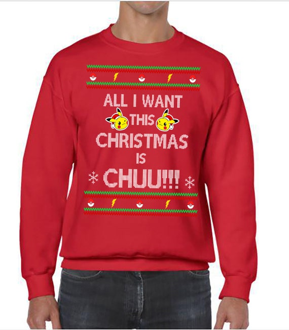 Ugly Christmas Sweater, Ugly Christmas Party, Pokemon, Pokemon Starter Popplio Christmas Sweatshirt, Ugly Sweater Party, Ugly Xmas Sweater