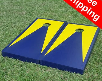 Free Shipping! Michigan Wolverine cornhole board set