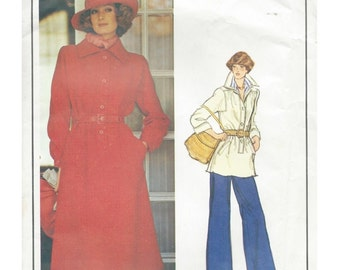 Vogue Paris Original Pattern 1205 Givenchy Shirt Dress or Tunic & Pants-Sz 12 Haute Couture 70's Vogue Designer Sewing Pattern Sewing Supply