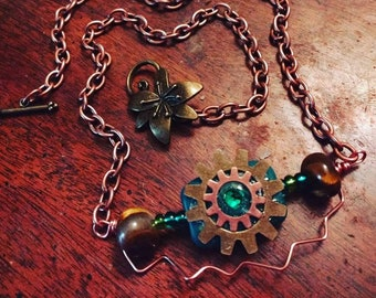 Gear Up And Go Necklace