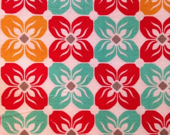 NOTTING HILL by Joel Dewberry - Fabric - Square Petals in Poppy - Quilting - Sewing - Home Decor - Crafting - Floral -  Flowers