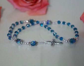 Swarovski Crystal Rosary - Anglican, Made to Order - Any Colors