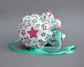 Star drawstring Pouch, Drawstring bag, Jewelry Pouch, Jewellery Pouch, Pink Pouch, Green Pouch, Small bag, pink Bag, bag with stars.