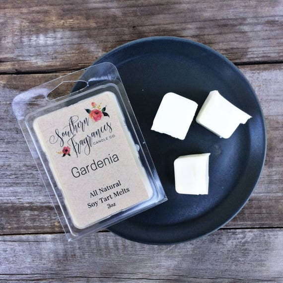 Gardenia Soy Tart Melt | Tart Melt | All Natural Soy | Eco Friendly | Home Decor | Flower Candle | Tart Warmer | Southern | Gift for Her