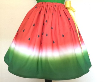 Watermelon Skirt for Gals, One size fits all, Plus Size