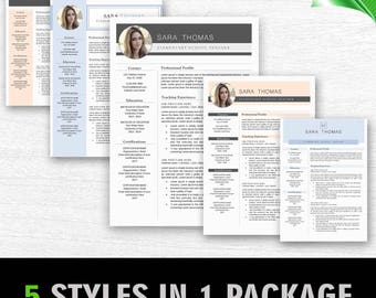 Professional And Modern Resume Template For Word, Creative Resume Design, CV  Template Word,