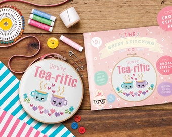 Cross Stitch Kit (You're tea-rific)