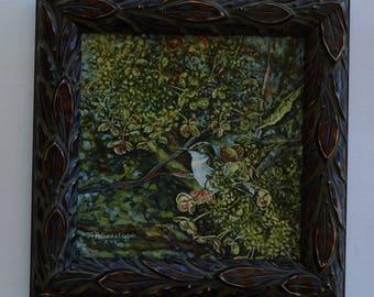 Hummingbird Oil Painting