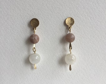 Sunstone & Moonstone Earrings