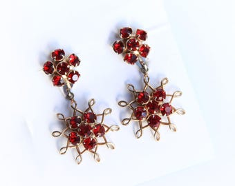 Red costume jewelry Etsy