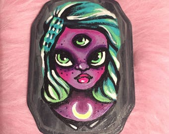Space Girl Painting
