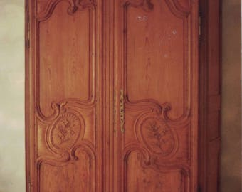 Antique French Louis XV Marriage Armoire