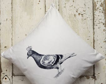 """Cushion Cover -  """"The Royal Collection"""" - Pigeon"""