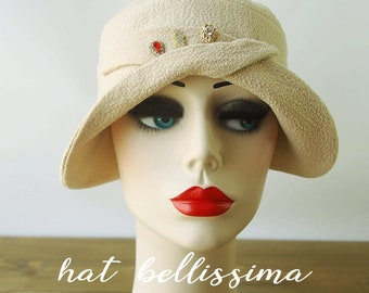 SALE  1920's style Cloche Hat  Vintage Style hat hatbellissima Summer Hats
