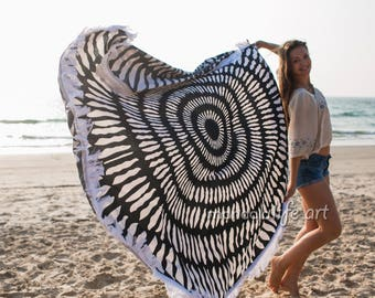 Boho Round Towel Boho Tapestry Bohemian Beach Blanket Large Beach Sheet Picnic Roundie XL Round Beach Towel