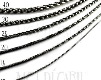 Wheat chain in solid sterling, best chain I recommend, durable high quality in silver 925, 1mm, 1.6mm, 2mm, 2.5mm, 3mm or 4mm thick