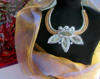 Soutache choker - Soutache jewelry - Bohemian necklace - Textile choker