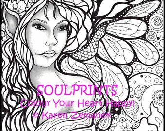 coloring books for teens dringramesorg coloring pages colour your heart happy by soulprintsbykz on etsy - Teen Coloring Pages