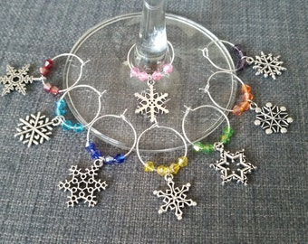 Wine Charms Snowflake
