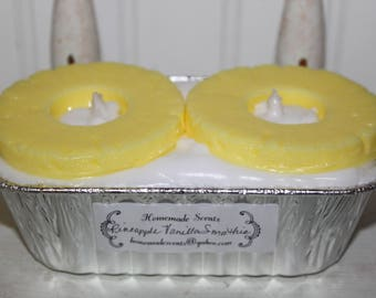 New PINEAPPLE VANILLA SMOOTHIE Scented Pineapple Rings Grubby Loaf Candle Strong Scented