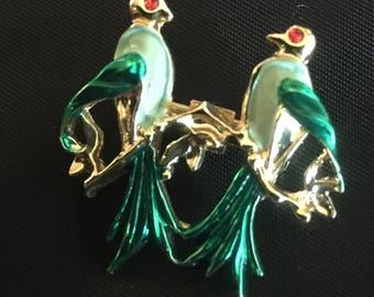 Vintage Birds Pin