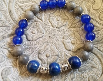 Lapis, Blue Jade and Fossil Gemstones