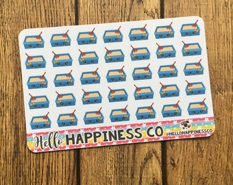 Kawaii Cat Litter Stickers- Litter Box Stickers - Cat Stickers - Planner Stickers - Functional Stickers