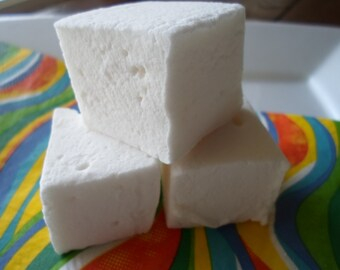 Vanilla Marshmallows, Handcrafted Vanilla Marshmallows, 1 dozen