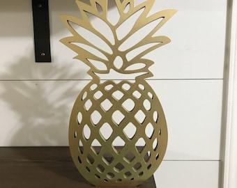 Wooden Pineapple Etsy