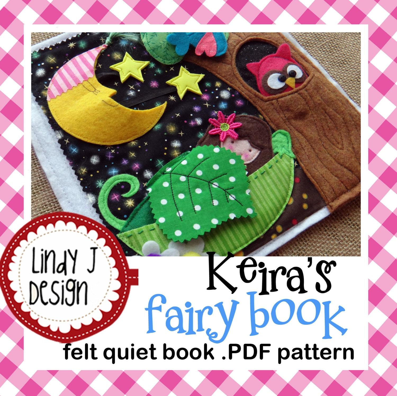 Keira\'s FAIRY Book Felt QUIET .PDF Pattern