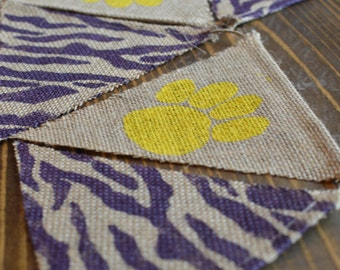 LSU Tigers Bunting Banner Louisiana Football Yellow and Purple