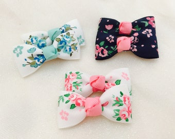 Baby hair clips baby hair bows flower ribbon infant hair bows non slip hair clips flower hair bows flower hair clip mini bows