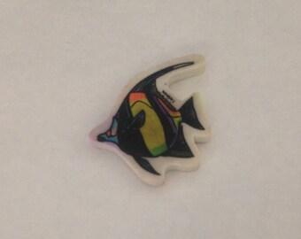 Vintage Angel Fish Eraser 1980s 80s