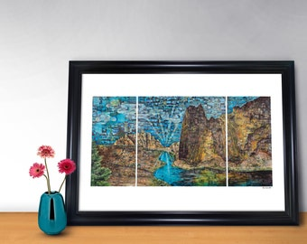 Connect With Smith Rock Poster Print (24x36)