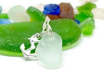 Sea Glass Necklace, Beach Jewelry, Lake Bottle Jewelry, Seafoam Necklace, Mermaid Jewelry, Sea Glass Jewelry, Seaglass, Beach Glass