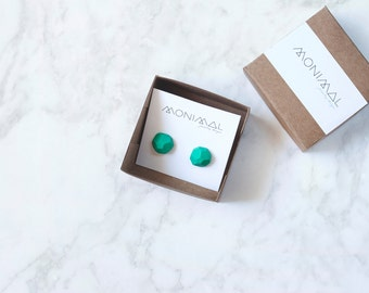 Sterling silver geometric stud earrings STONES