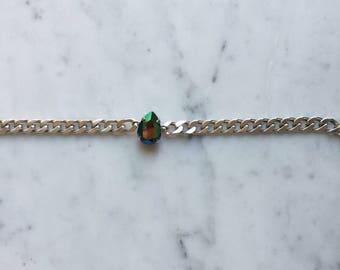 Swarovski Crystal Minimalist Bracelet/ Handmade Faceted Teardrop Crystal Dainty Silver Chain Elegant Bracelet/ Everyday Jewelry Gift
