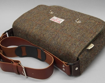 "iPad Pro 12.9"" Messenger Bag in special Harris Tweed"