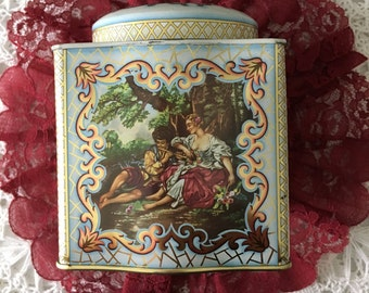 Vintage Tea Tin with Lid