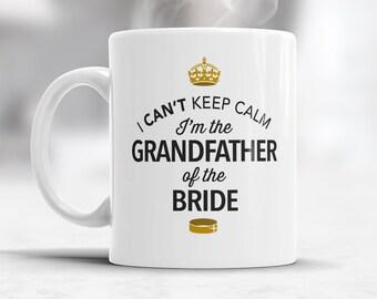 Grandfather of The Bride, Wedding Mugs, Brides Grandfather, Brides Grandfather Gift, Grandfather, Grandfather of the Bride,  Wedding Ideas
